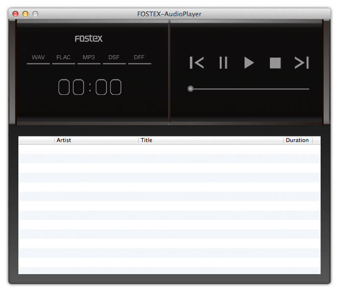 Fostex Audio Player